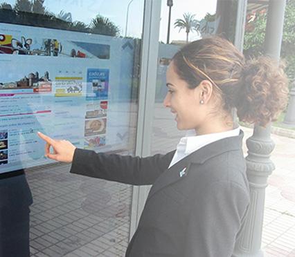 Smart touch window shop
